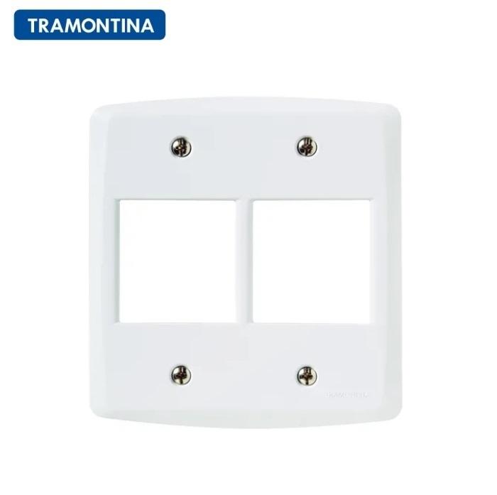 Placa 4 Postos  Tramontina 4x4  Lux²  57105/026 Branca