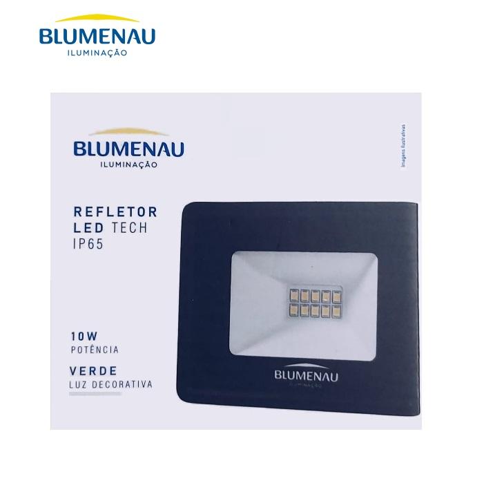Refletor LED Blumenau 10W Luz Decorativa Verde