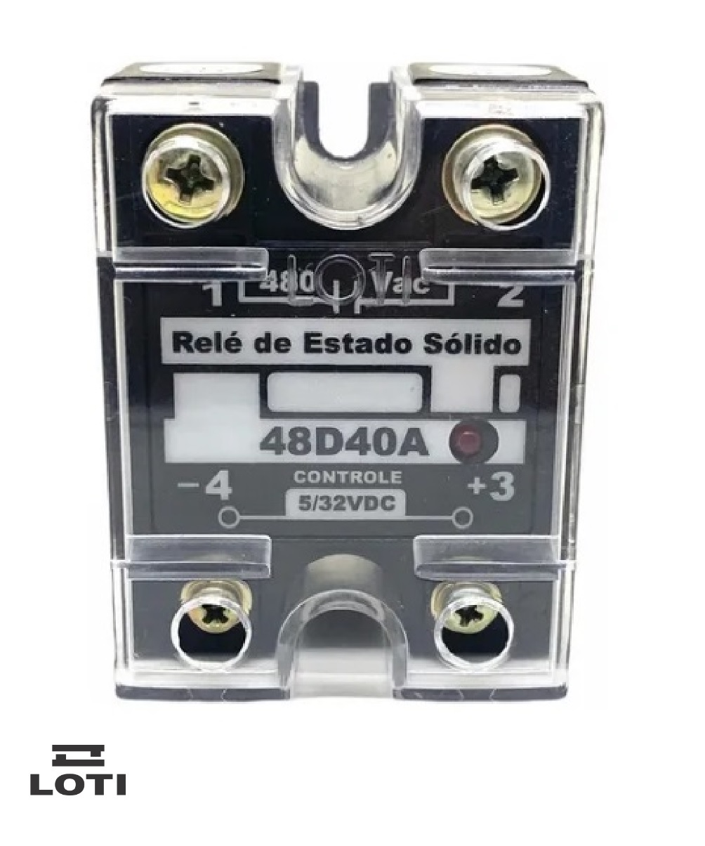Rele de Estado Sólido Loti 48D40A - 40A- 480vac - Controle 5/32VDC
