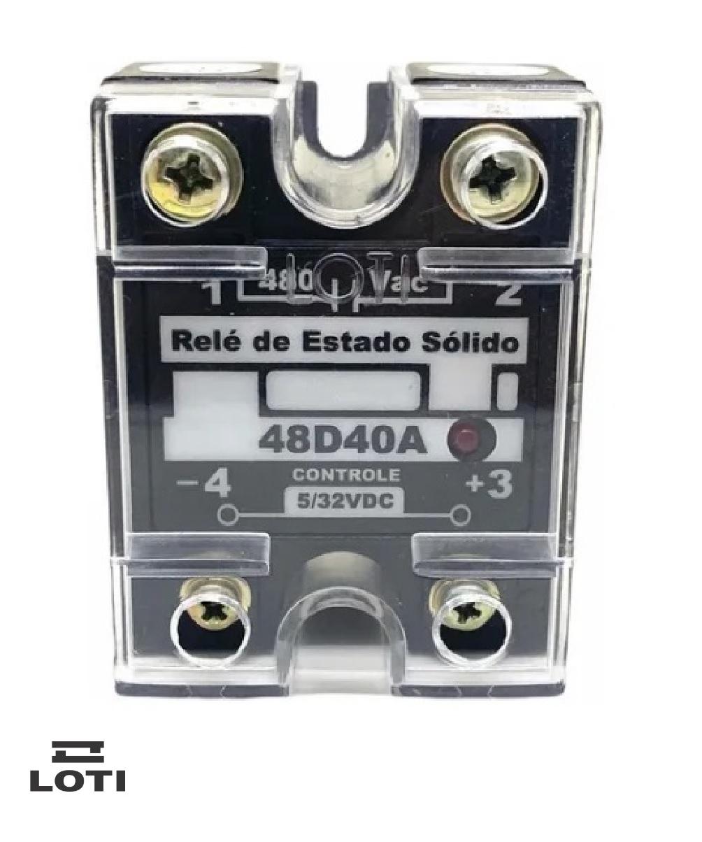 KIT 2 Reles De Estado Sólido Loti 48d40a - 480vac-controle 5/32vdc