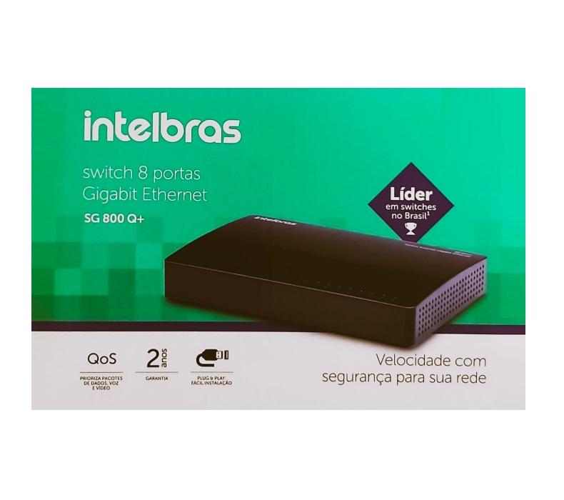 Switch Intelbras  8 Portas Gigabit Ethernet SG 800 Q+