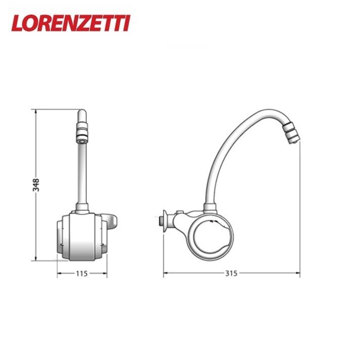 Torneira Elétrica Lorenzetti Versatil 220V 5500W