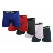 Kit 5 Cuecas Boxer Somellos em Microfibra Liso EXGG Adulto