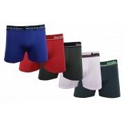 Kit com 5 Cuecas Boxer Confortável em Microfibra Lisa com Forro de Algodão Extra GG