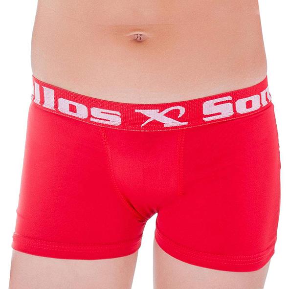 Kit 5 Cuecas Boxer Somellos em Microfibra Liso Infantil