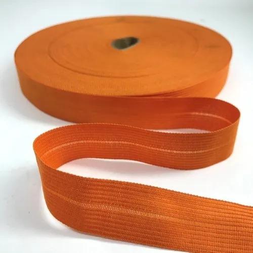 VIÉS DE BONEON 100% POLIESTER 25mm COM 100MT-laranja
