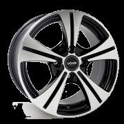 """Roda VX-05 14""""x5,5"""" 4x100 ET36 PTBD (Preto Brilho Diamantado)"""