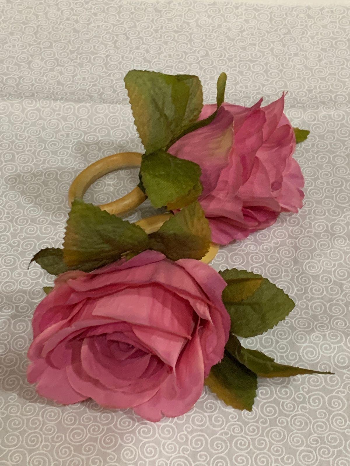 Porta Guardanapo flor Rosa