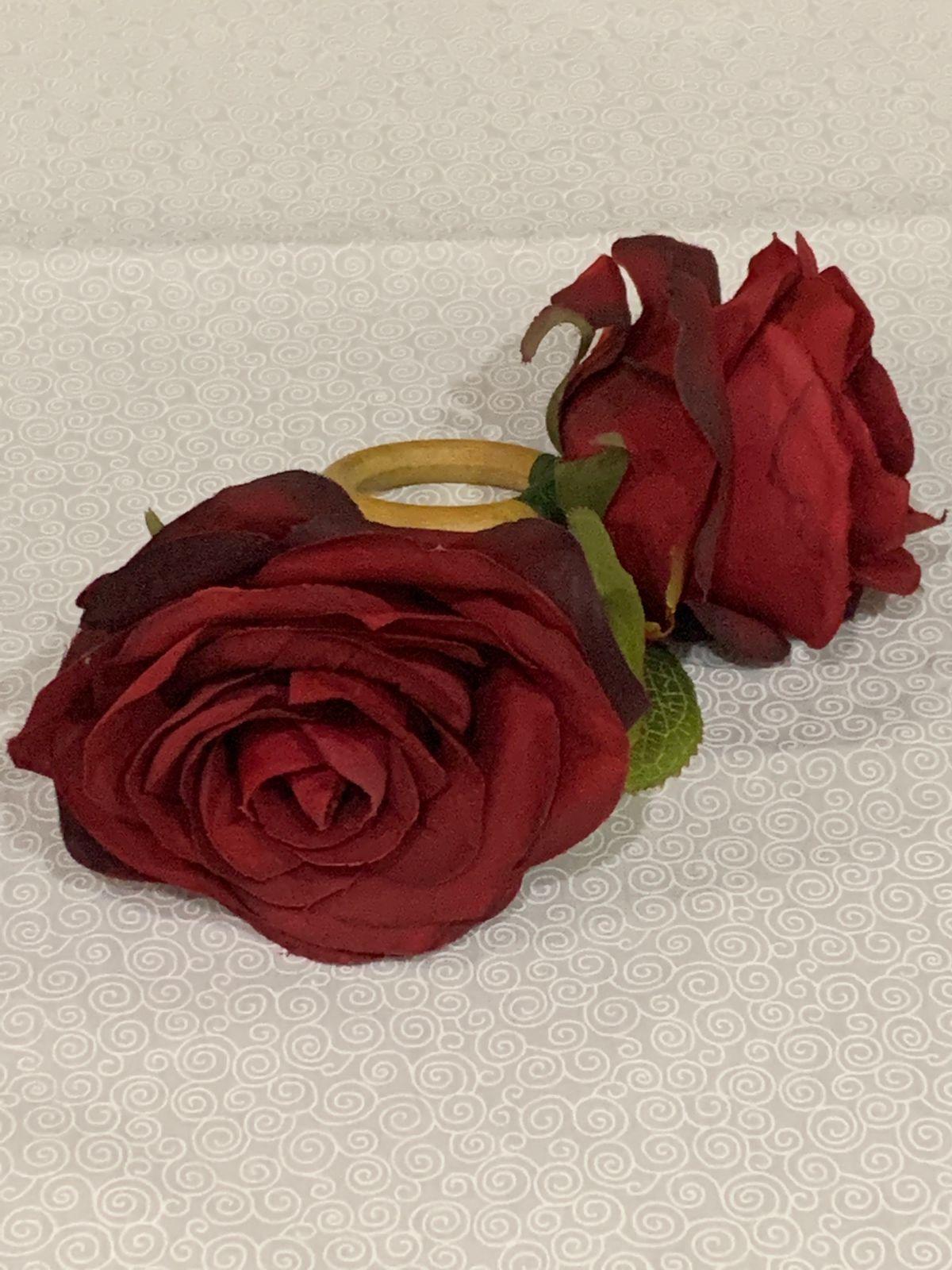 Porta Guardanapo Rosa Vermelha Grande