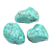 100 gramas de Pedra Howlita Turquesa