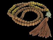 Japamala 108 Pedra Natural Olho De Tigre Meru Cabeça De Buda