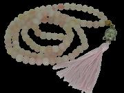 Japamala De Quartzo Rosa 108 Contas De 8mm Pedra Natural