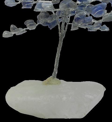 Árvore De Pedra Quartzo Azul Natural 20 Centímetros