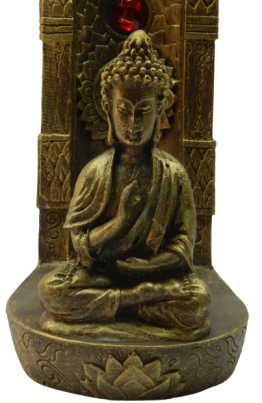 Incensário Vertical Buda 7 Chakras Incenso Pedras Naturais
