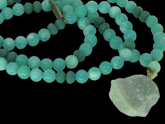 Japamala Jade Verde Pedra Natural 108 Contas Pingente Pedra