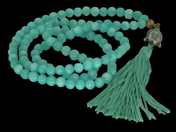 Japamala Jade Verde Pedra Natural 108 Contas Terço Budismo