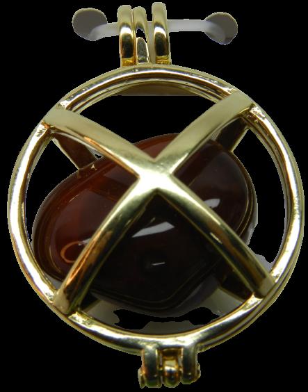 Pingente Flor De Lótus 7 Chakras - Folheado A Ouro - Pedras