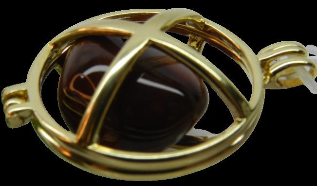 Pingente Flor De Lótus 7 Chakras - Folheado Ouro Pedras Nat
