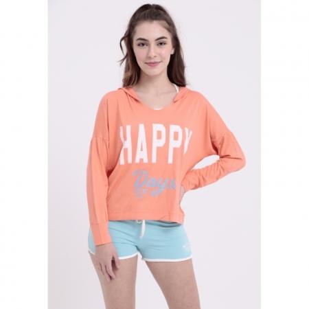 Blusa Capuz Happy Days