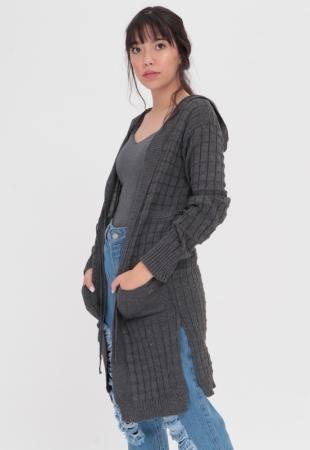 Cardigan Tricot Grey