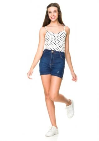 Short Jeans Addison Cós Alto
