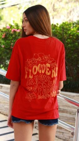 T-Shirt Camisetão Flower Chick