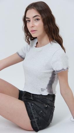 T-shirt Ribbed Dip Dye