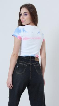 T-shirt Ribbed Tie Dye