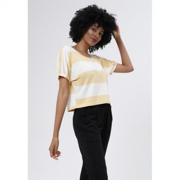 T-Shirt Tribeca Listra Off e Amarelo