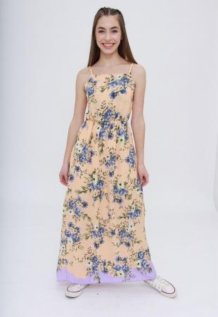 Vestido Longo Lavander Flowers