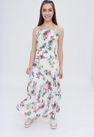 Vestido Longo Spring Flowers