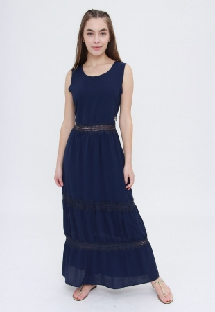 Vestido Longo Trabuca Azul