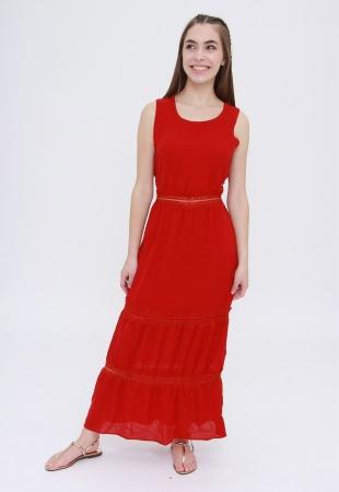 Vestido Longo Trabuca Vermelho