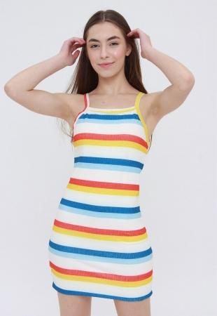 Vestido Ribbed  Colour Stripes