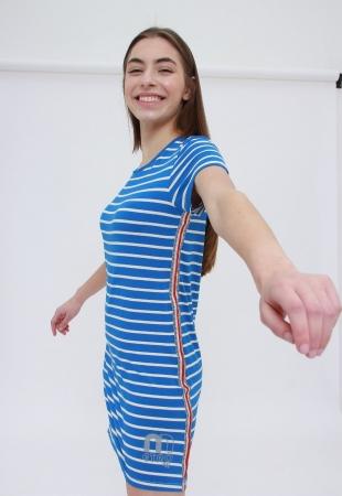 Vestido Tee Blue Stripes