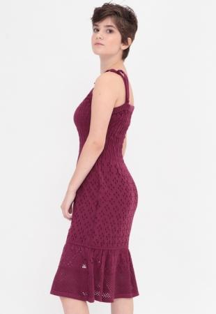 Vestido Tricot Uva