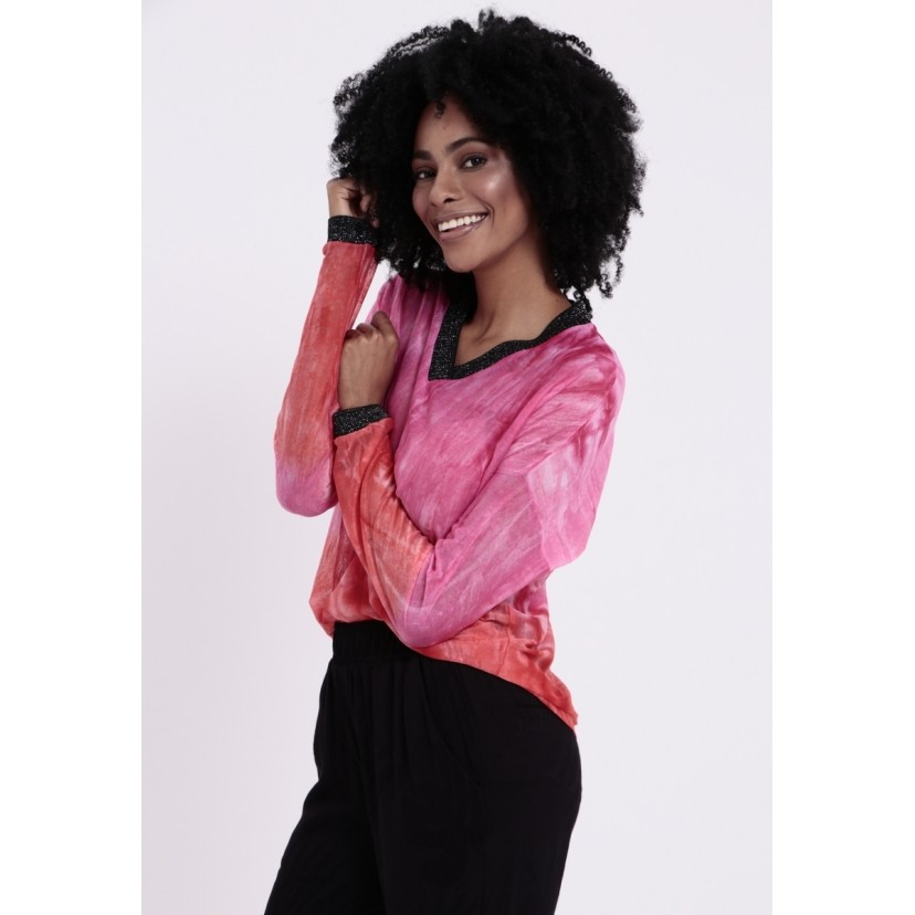 Blusa Tie Dye Auburn Fuscia  - Metro & Co.