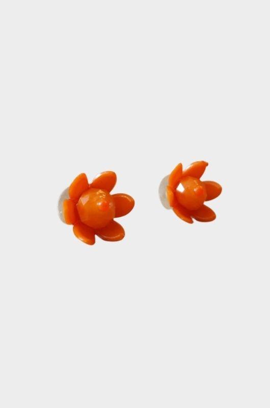Brincos Orange Flower  - Metro & Co.