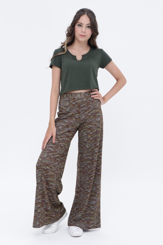 Calça Pantalona Misty  - Metro & Co.