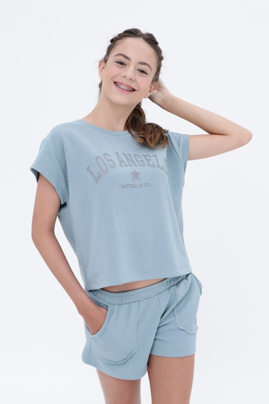 Camiseta Moletom Los Angels  - Metro & Co.
