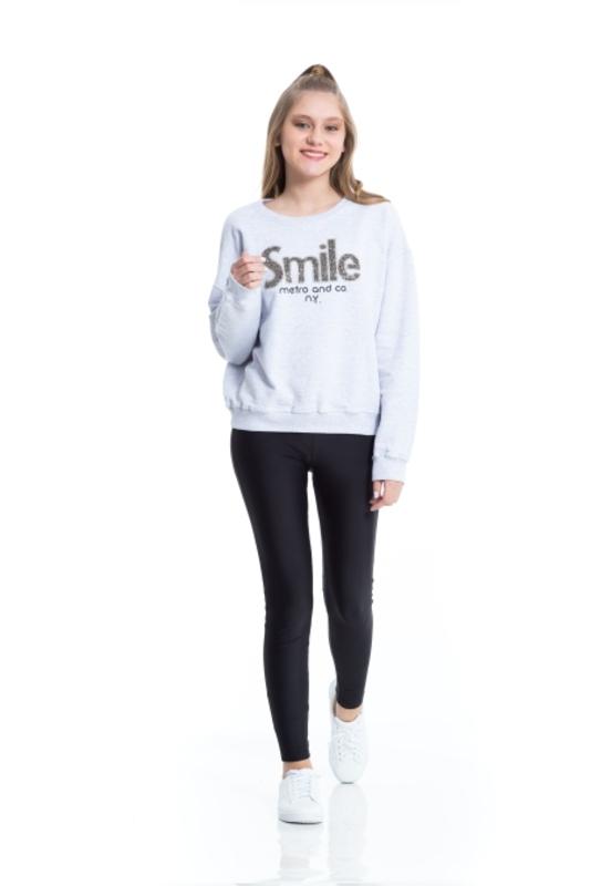Moletom Smile  - Metro & Co.