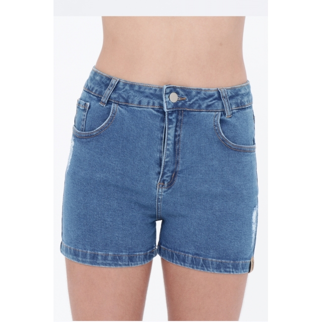 Short Jeans Mikayla Cós Alto  - Metro & Co.