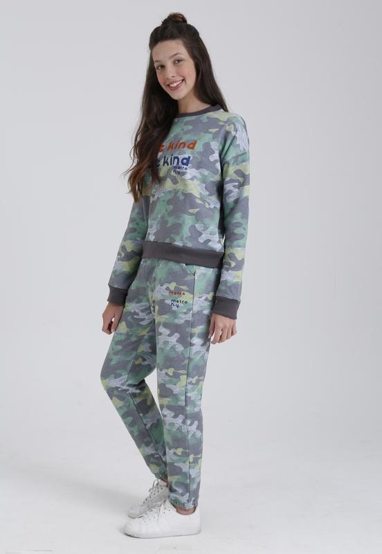 Sweatshirt Moletom Camuflado Be Kind  - Metro & Co.