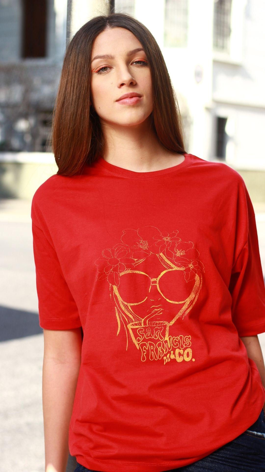 T-Shirt Camisetão Flower Chick  - Metro & Co.