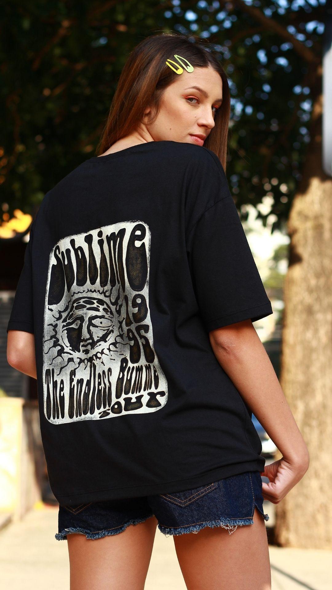 T-Shirt Camisetão Sublime  - Metro & Co.