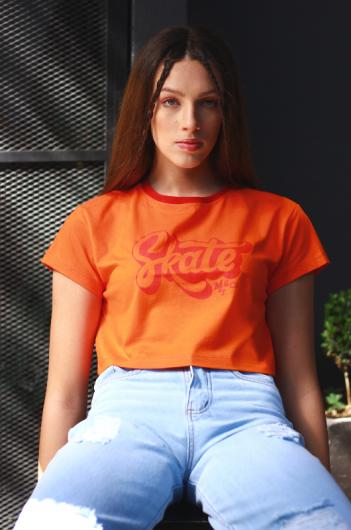 T-Shirt Cropped Skate  - Metro & Co.