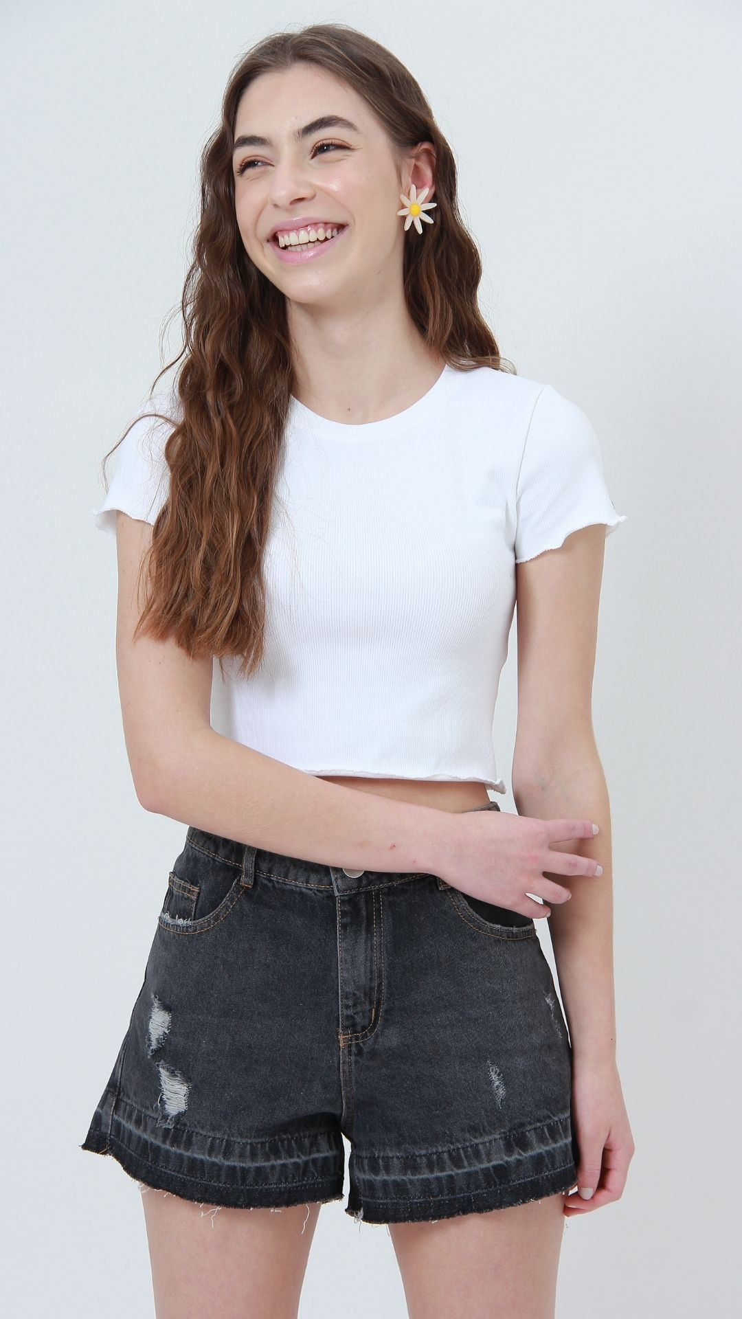 T-shirt Ribbed Cru  - Metro & Co.