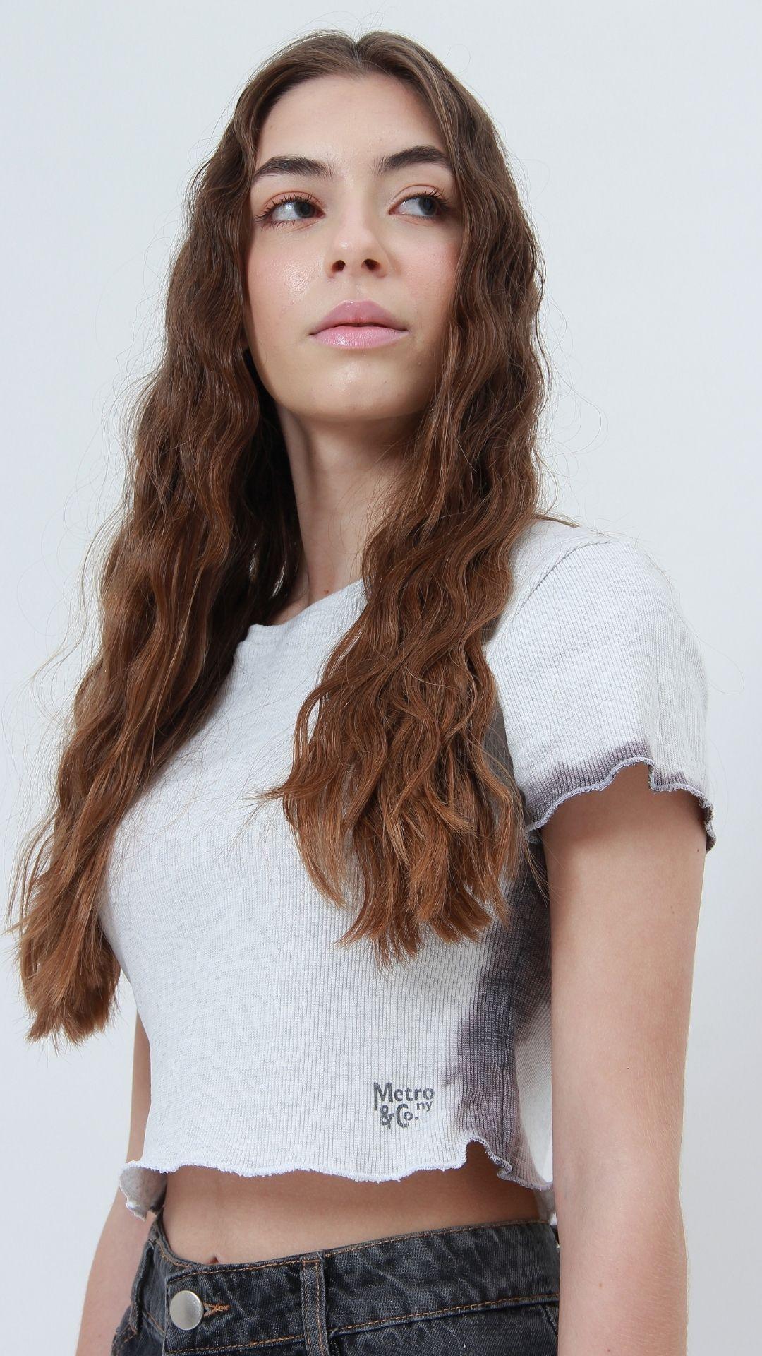 T-shirt Ribbed Dip Dye  - Metro & Co.