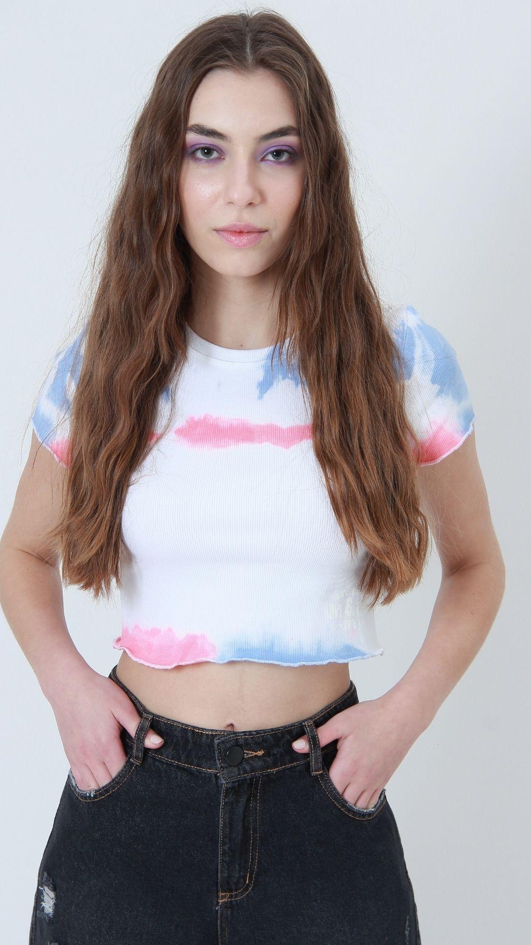 T-shirt Ribbed Tie Dye  - Metro & Co.