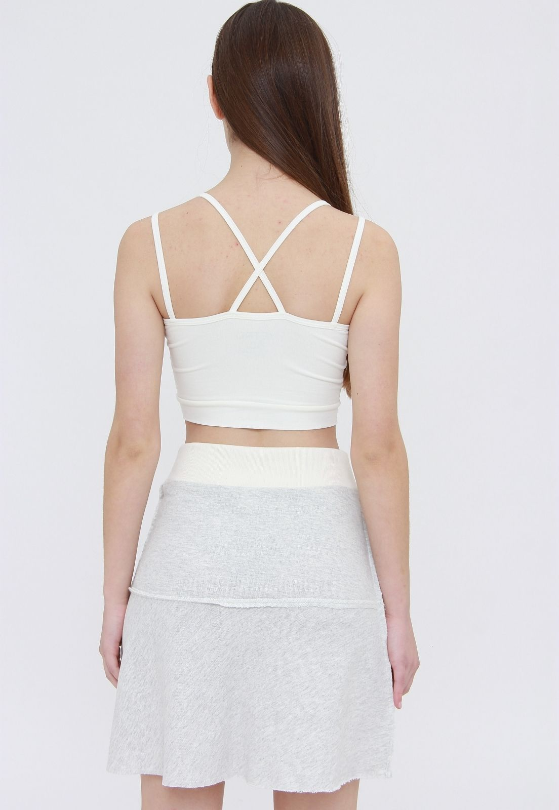 Top Cropped Off White  - Metro & Co.